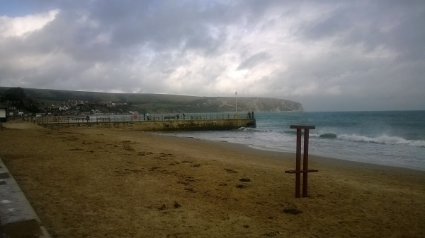 Swanage Bay before a storm